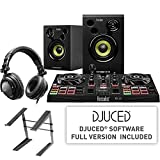 Hercules All-In-One Kit DJ Learning Kit + On-Stage LPT5000 Laptop Computer Stand for Workstations