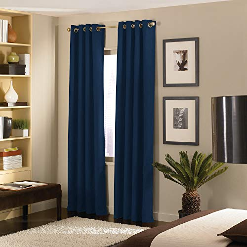 """Curtainworks 1Q803304NY Cameron Grommet Curtain Panel, 50 by 144"""", Navy"""