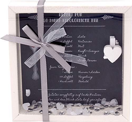 ZauberDeko Geldgeschenk Verpackung Diamantene Hochzeit Jubiläum Gutschein Geschenk Rezept für 60 Jahre Ehe