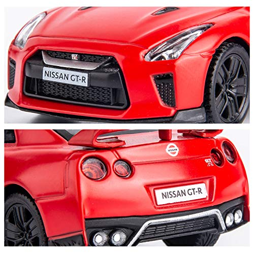 BDTCTK 1/36 Scale GTR Supercar Model Toy Zinc Alloy Die-Cast Pull Back Vehicles Kid Toys for 4 5 6 Years Old Boy Girl Gift (Red)