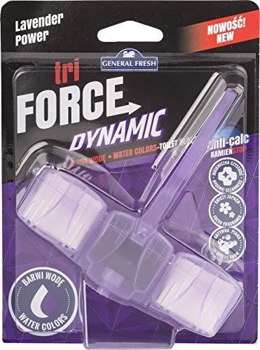 12er Pack. WC Lilaspüler Tri Force Dynamic Intensive Duft, Aktivschaum- und Wasserfärbung Dynamischer Lila - lavendel (12x45g.)