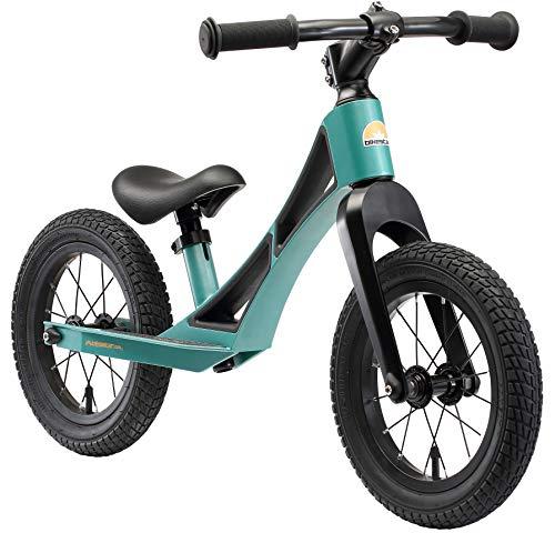 BIKESTAR Magnesium (superleicht) Kinderlaufrad Lauflernrad Kinderrad für Jungen und Mädchen ab 3 - 4 Jahre | 12 Zoll Kinder Laufrad BMX Ultraleicht | Petrol Grün | Risikofrei Testen