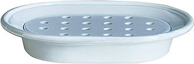 素地のナカジマ ソープディッシュ ホワイト 約幅10.5×奥行14.5×高さ2.5cm MUDDY NOMBRE (日本製) 19-457221