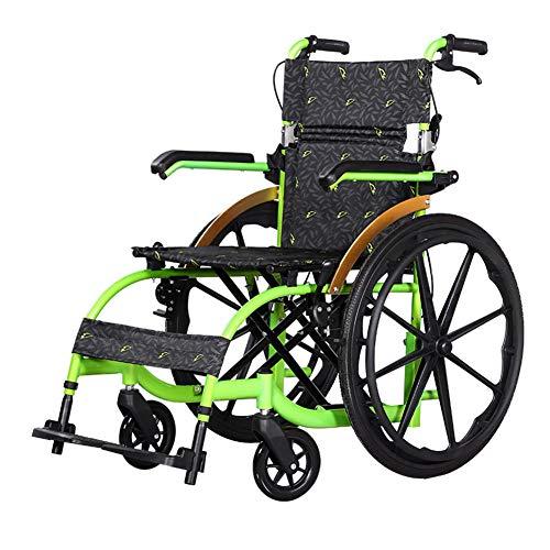 CANDYANA Silla De Ruedas Plegable Easy Ultralight De Ruedas Cómoda para Viajes Scooters De Movilidad Plegables Portátiles con Freno, Reposapiés, Reposabrazos