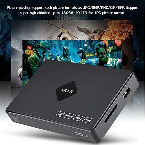 Lecteur FLV Full HD 1080p Aucun Logiciel requis, Disque Dur SATA multimédia avec télécommande, Vidéos, Images (13068 * 10173 UHD), Musique Multi-Format, Support MMC/U Disk/USB