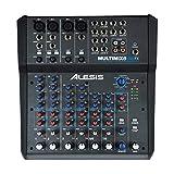 Alesis MultiMix 8 USB FX - Mezclador de estudio compacto de 8 canales...