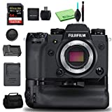 FUJIFILM X-H1 Mirrorless Digital Camera Body with Battery Grip Kit 24.3MP - Kit with 64GB Memory Card + Spare Battery + More