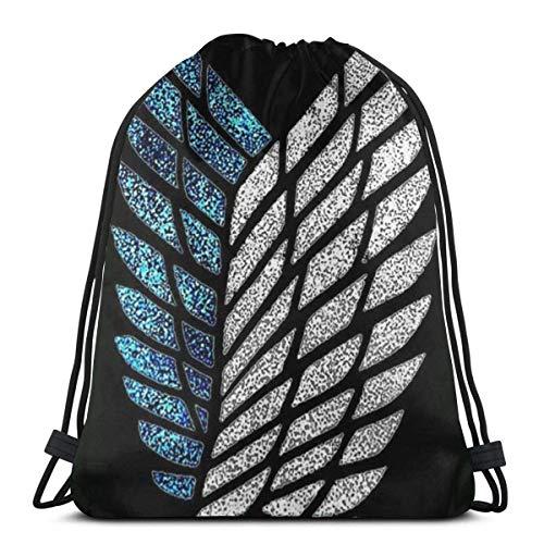 Bolsa clásica con cordón para ataque, mochila de gimnasio Titan, bolsa de almacenamiento deportiva para hombre y mujer