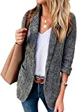 Womens Casual Blazers Open Front Long Sleeve Lapel Work Office Jackets Blazer Suit Pocket Cardigan Jacket Outwear