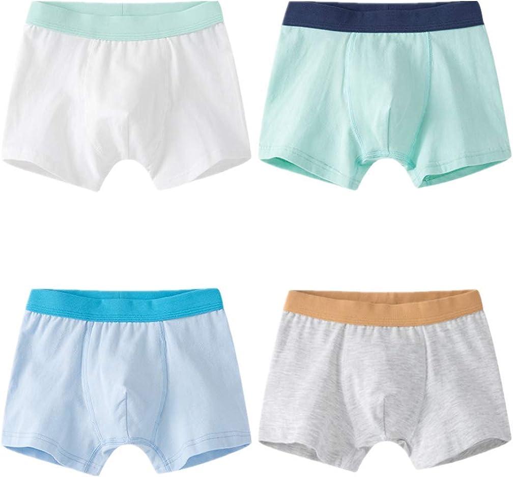 Cczmfeas Boys 4 Pack Boxer Brief ComfortSoft Underwear Boxers