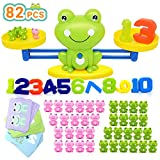 Bieyaaso Cool Balance Counting Math Games for Girls & Boys, Number Educational Kindergarten Toy for Kid Fun Todddlers STEM Learning Tool Age 3+ (82 PCS)