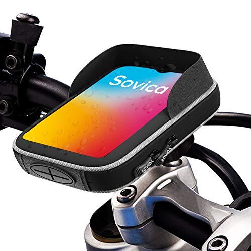 """Porta cellulare moto impermeabile con caricatore USB 2.1A ricarica rapida Custodia protettiva valida per smartphone fino a 7"""" Visiera antiriflesso fissaggio al manubrio a doppia vite"""