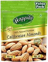 Happilo 100% Natural Premium Californian Almonds Value Pack Pouch, 500 g