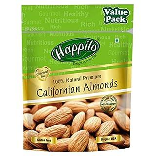 Happilo 100% Natural Premium Californian Almonds Value Pack Pouch
