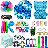 Komoo Fidget Toys Pack, Sensory Fidget Toys Push Pop Bubble Fidget Sensory Toy Stress Anxiety Relief Toys Set for ADHD (E)