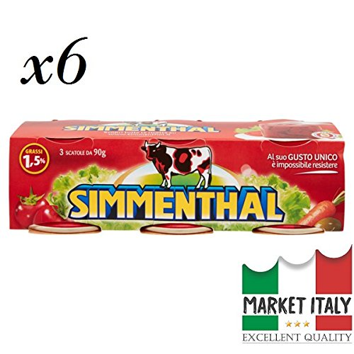 x6 Simmenthal carni bovine in gelatina vegetale 3 x 90 g