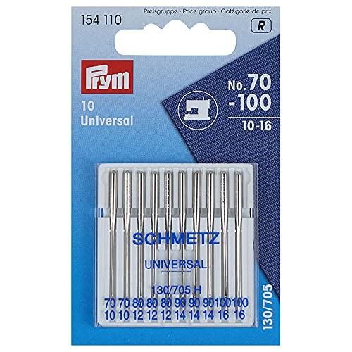 PRYM/schmetz 154110 aiguilles universelles 130/705 h lot de 10