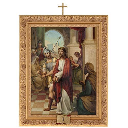 Holyart Via Crucis Cuadros Madera Similar Pintura 15 Estaciones