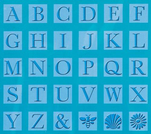 Cuttlebug Cricut, One Monogram Serif Embossing Plates, Blue