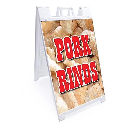 A-Frame Pork Rinds Sign with Graphics On Each Side | 24
