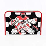 HockeyShot Extreme Shooter Tutor | Red Black and White Shooting Tarp for Use on Goals | Target Practice Team Use | Improve Accuracy