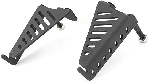 Mallofusa Car Exterior Door Hinge Footrest Pedal Foot Pegs Panel Compatible for Jeep Wrangler JK 2DR 4DR 2007 2008 2009 2010 2011 2012 2013 2014 2015 2016 2017 Black