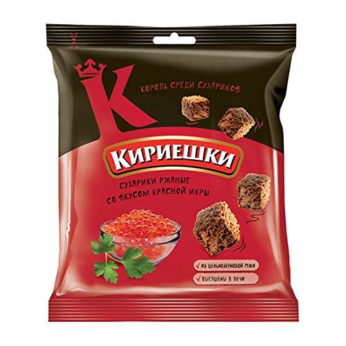 Kirieshki Rye Crackers Dry Bread Croutons with red caviar flavor