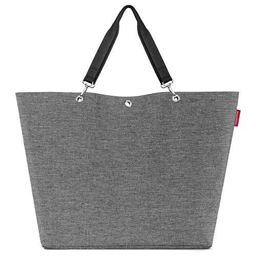 reisenthel, Shopper XL, ZU, Damen Umhängetasche, Twist Silver (7052)