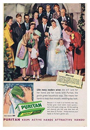 Puritan Zeep Poster Picture Vintage Oude Advert Artwork Klassiek Ouderwets Commercieel Zacht Wassen