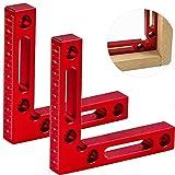 2 pezzi morsetto di posizionamento lega di alluminio, 90 gradi righello l morsetti ad angolo retto per cornici scatole armadi o cassetti righello