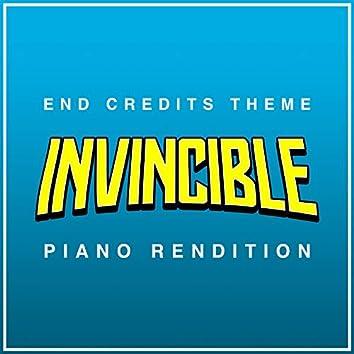 Invincible End Credits Theme - Piano Rendition