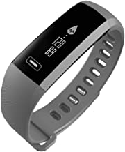 CURREN Fitness Tracker Rechargable Pedometer Calls Message Notification Heart Rate Blood Oxygen Breath Rate Sleep Monitoring Smart Watch Bracelet Wristband R5pro for Bluetooth Android and iOS