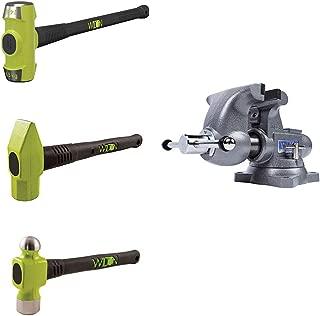 Wilton Tradesman 1765 Steel Anvil Work Bench Vise w/ 3 Piece Hammer Kit Set