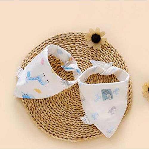Sccarlettly Living Home Baby Triangle Serviette Casual Bavoir Chic Coton Salive Tissu Double Quatre Saisons 2Pcs Ensemble (Couleur Bleu) (Color : Blau, Size : Size)