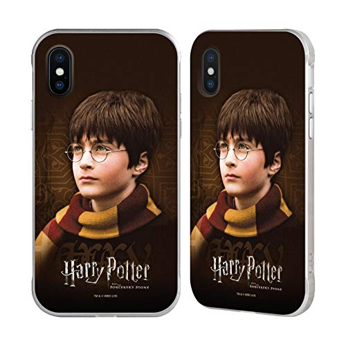 Officiële Harry Potter Sjaal Steen tovenaar II Zilveren Fender Case Compatibel voor Apple iPhone X/iPhone XS