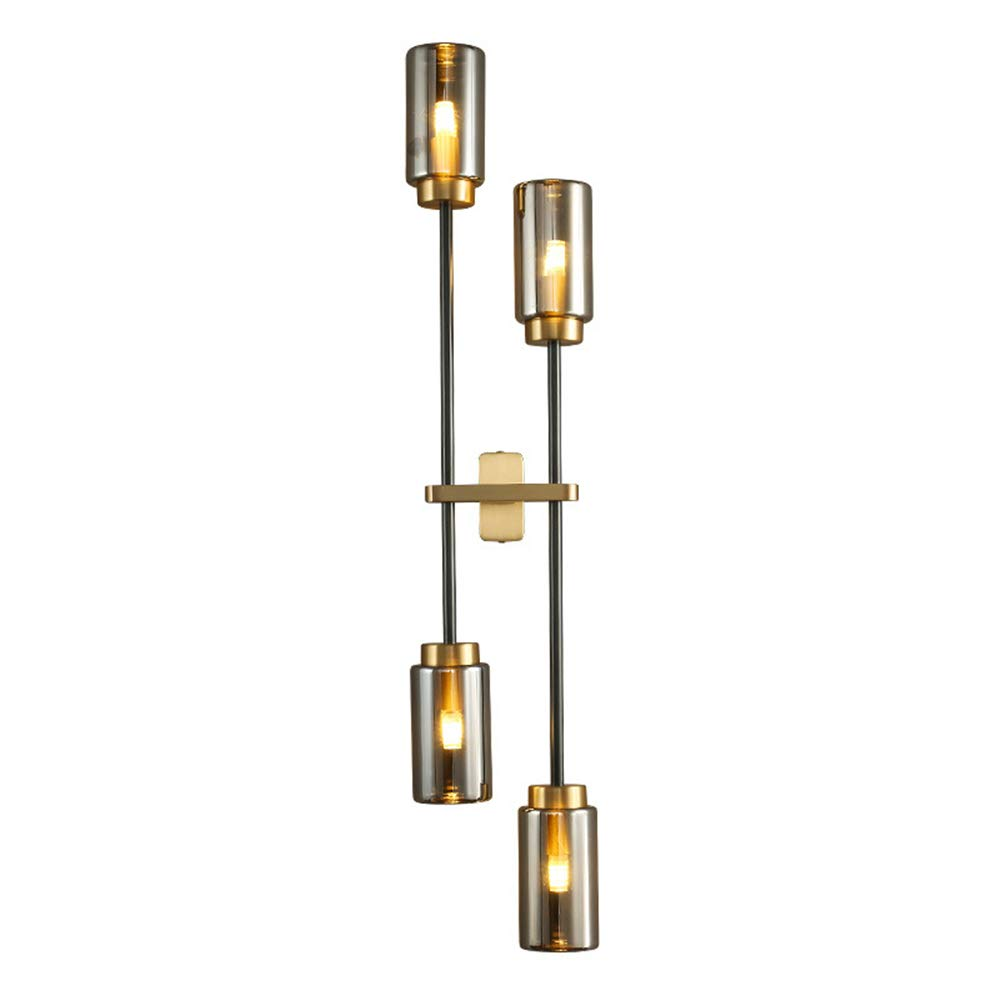 Globe Electric 60488 Delaney 2-Light Wall Sconce Brass Crystal Detail