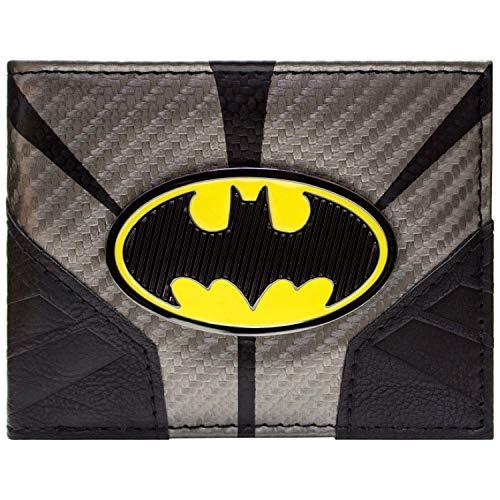 Cartera de DC Batman Símbolo hasta Traje Plata