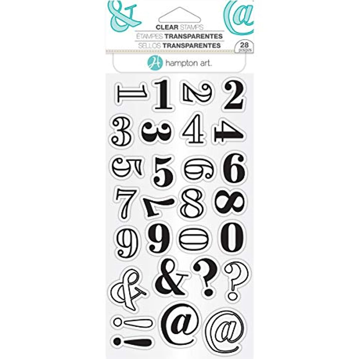 Hampton Art Clear Stamps-Layers Numbers
