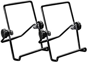 2 Sets Wire Easels Tablet Holder for Fire 7 Tablet iPad Samsung, One for All Sturdy Picture Easel Plate Holder Book Readin...