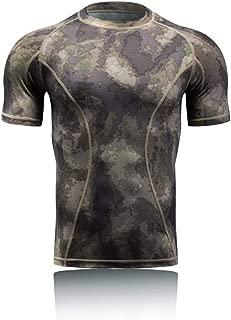Jungle Compression Python Pattern Camouflage Tactics Short Sleeve Shirt Training Clothes