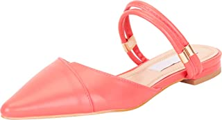 Cambridge Select Women's Pointed Toe Strappy Slip-On Flat Mule