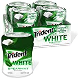 Trident White Sugar Free Gum, Spearmint Flavor, 4 Go-Cup (240 Pieces Total)