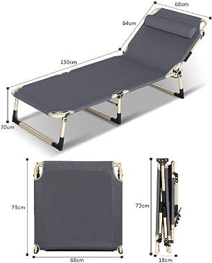 Lit Pliant inclinable Simple Pause déjeuner Bureau Sieste Maison Simple Urgence Portable Marche escorte 194 * 68 * 30 CM