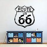 WERWN Highway 66 Vinilo calcomanía de Pared Ruta clásica US 66 habitación de los niños...