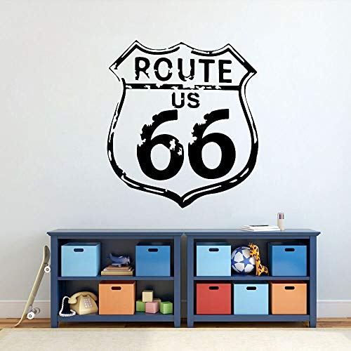 WERWN Highway 66 calcomanía de Pared de Vinilo Ruta clásica US 66 habitación de los niños...