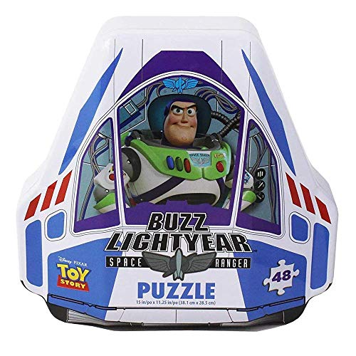 Disney Pixar Toy Story 4 Shaped Buzz Lightyear Tin with 48Piece Surprise Puzzle
