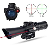 UUQ Tactical 3.5-10X40 Illuminated Red/Green Mil Dot Rifle Scope W/Red Laser Sight Fit