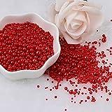 Multi Tamaño 1.5-8mm Perlas sin Agujero Multicolores Redondo Acrílico ABS Perlas de Imitación de Perlas para DIY Craft Scrapbook Decoración de Uñas-Color Rojo, 1.5mm 1000Pcs