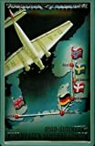Cozy-T German Lufthansa by Oslo After London Metal Tin Plate Firmar 20 x 30 cm