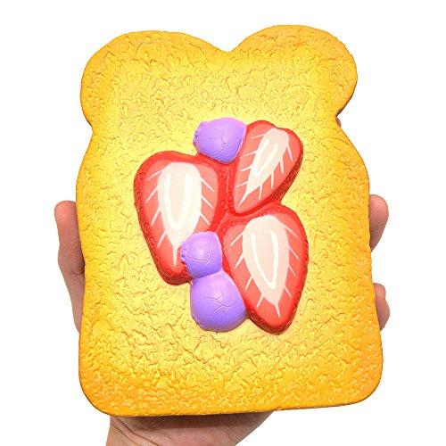 Kiibru Slow Rising Squishies Jumbo Strawberry Toast Scented Bread Squishy Kids Toys